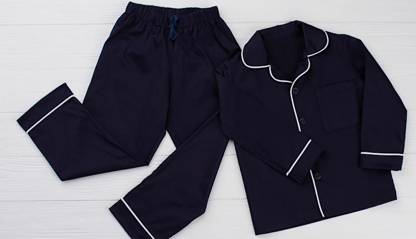 pajamas Pjs navy blue