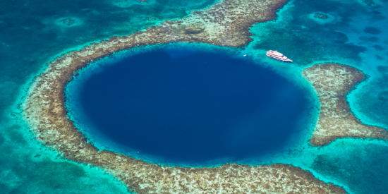 blue hole off the coast of belize central america