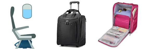 Samsonite wheeled underseat bag personal item