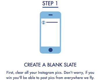 Step 1: Create a Blank Slate. First, clear all your instagram pics.