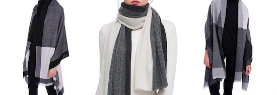 Winter Cashmere Scarf Shawl for Travel