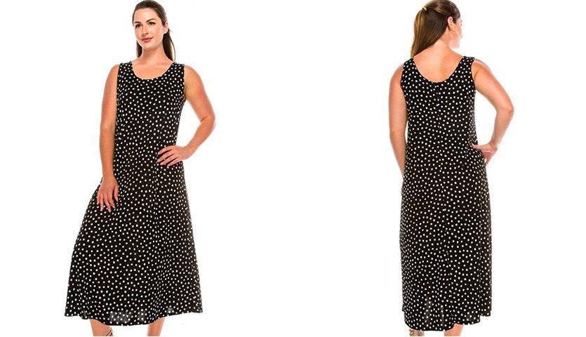 Jostar Women's Stretchy Long Tank Dress