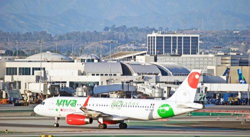 VivaAerobus airplane at LAX