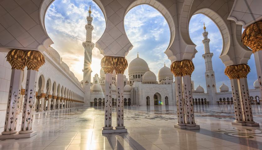 Sheikh Zayed Mosque in Abu Dhabi UAE Columns