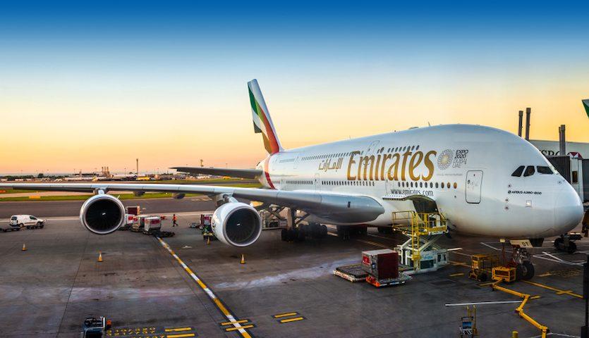 Emirates a380 airplane