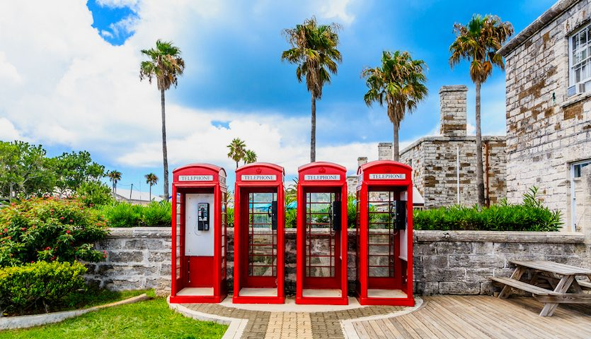 Bermuda English Style Phone Booths