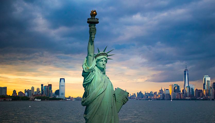 Newark New Jersey Statue of Liberty Harbor