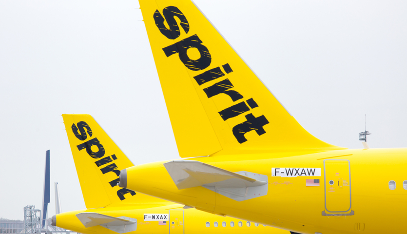 spirit airlines airplane tails