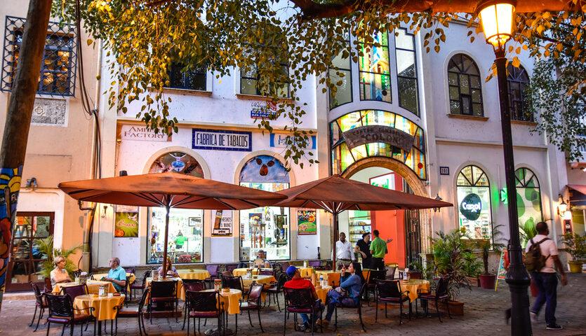 bar in commercial centre colon Santo Domingo, Dominican Republic