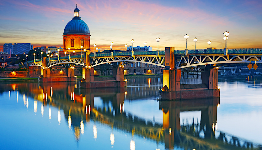 Bridge in Toulouse France over the Garonne