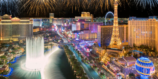 New Year's in Las Vegas, Nevada on the strip