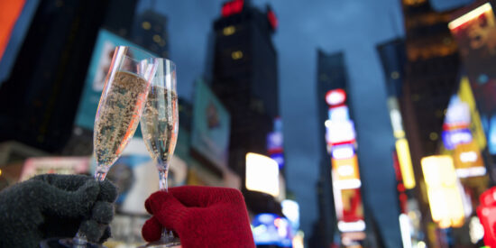 Cheers to the New Year in Times Square, New York City