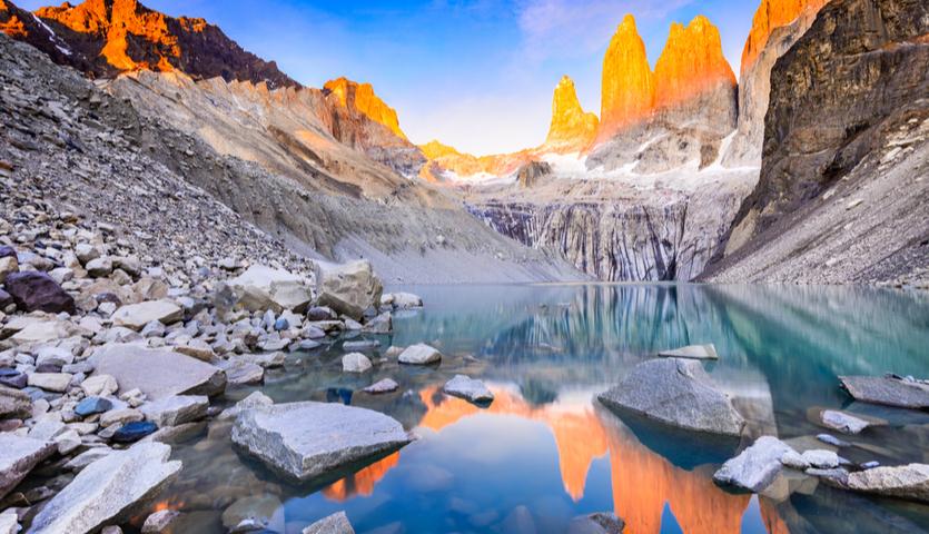 Laguna Torres in Torres del Paine, Chile Patagonia South America