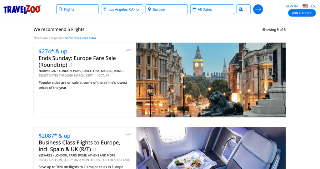 Travelzoo-Search-Results