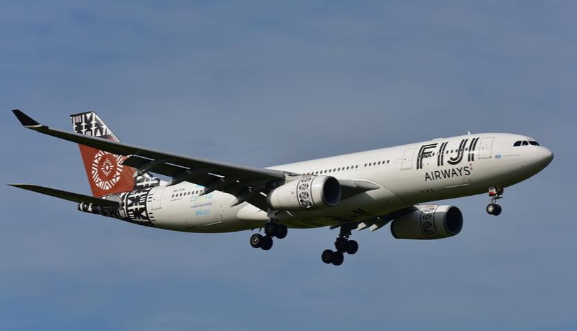 Fiji Airways Airbus A330 landing