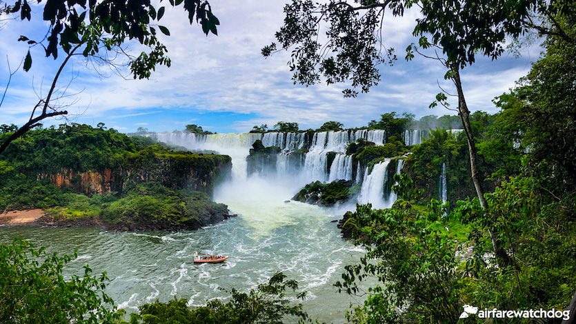 View of Iguazu Falls from the Argentina side